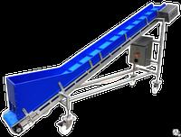 Наклонный передвижной транспортер комплектующие для конвейер